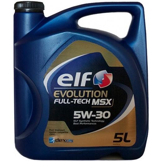 Масло моторное  Elf EVOLUTION FULL-TECH MSX ELF 5W30 5L Elf EVOLUTION FULL-TECH MSX ELF 5W30 5L 194904 Elf