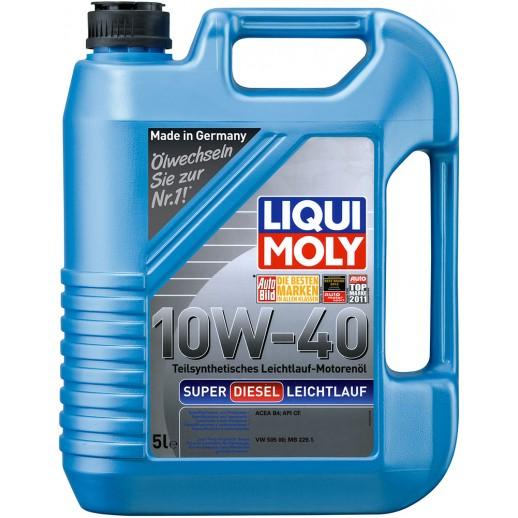 Масло моторное Liqui Moly полусинтетическое дизельное Super Diesel Leichtlauf 10W-40 5л 1435 1435 Liqui Moly