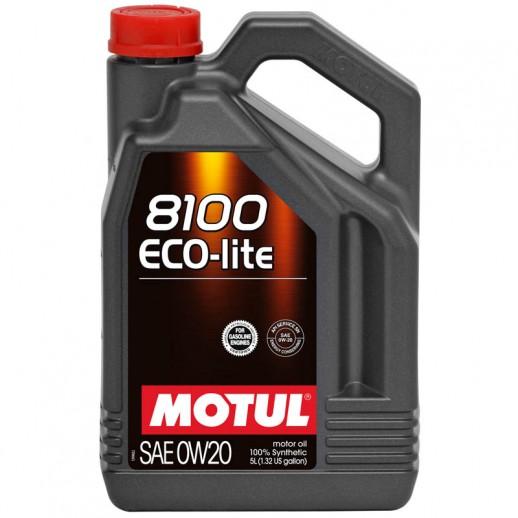 Масло моторное  Motul 8100 ECO-LITE MOTUL 0W20  5л  купить в Минске