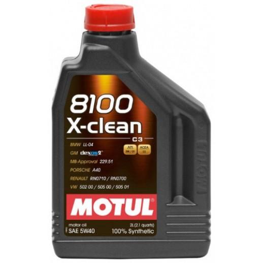 Масло моторное  Motul 8100 X-clean 5W-40 2л  купить в Минске
