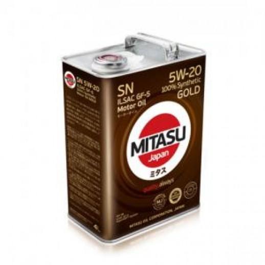 Масло моторное MITASU 5W-20 4L GOLD SN MITASU MITASU 5W-20 4L GOLD SN  MITASU