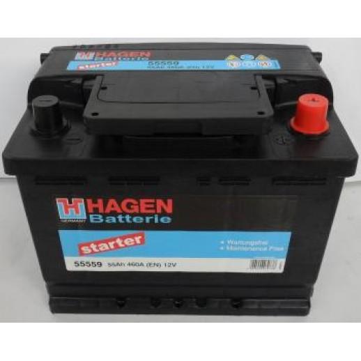 Аккумулятор HAGEN HAGEN 55Ah 460A L+ HAGEN HAGEN 55Ah 460A (L +)  HAGEN 120.80 BYN
