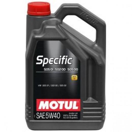 Масло моторное  Motul SPECIFIC 502.00-505.00-505.01 5W40 5л  купить в Минске