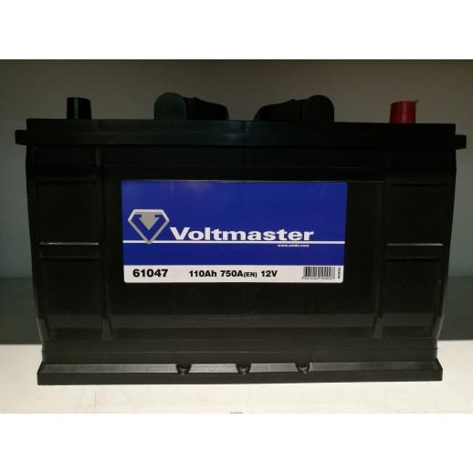 Аккумулятор  VOLTMASTER 12V 110AH 750A ETN 0(R+) B3 (61047)