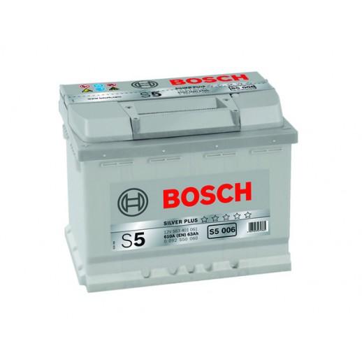 Аккумулятор BOSCH S5 Silver Plus S5004 561400060 63Ah  купить в Минске
