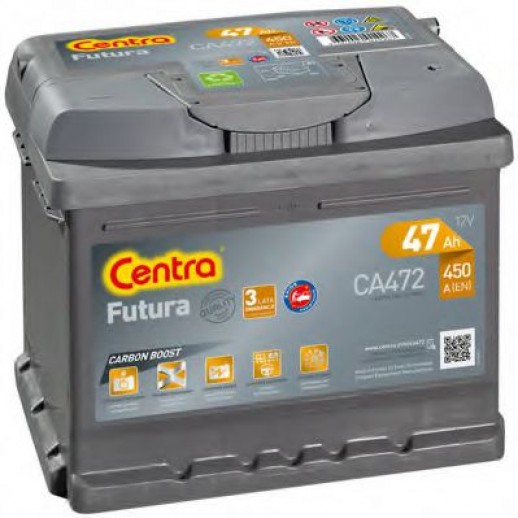 Аккумулятор CENTRA Futura 12V 47Ah 450A ETN 1(R+) B13