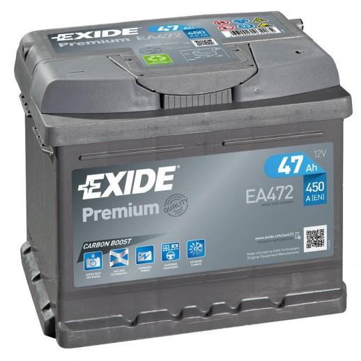 Аккумулятор Exide Premium 47 R 47Ah EA472 Exide Premium 47 R (47Ah) EA472 EA472 Exide 161.00 BYN