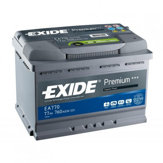 Аккумулятор Exide Premium 77 R 77Ah EA770 Exide Premium 77 R (77Ah) EA770 EA770 Exide 248.40 BYN