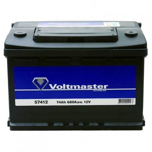 Аккумулятор  VOLTMASTER 12V 74AH 680A ETN 0R+ B13 57412  купить в Минске